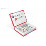 JANOD 05538 Carte magnetică ENGLISH ALPHABET 104 magneţi-litere 26 magnet-poze de la 3-8 ani