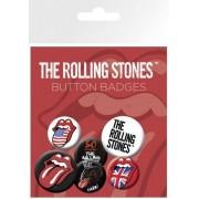 Rolling Stones Paquet De Badges - Lips, 4 X 25mm & 2 X 32mm Badges (15x10 Cm)