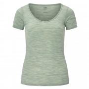Icebreaker Siren SS Sweetheart Damen Gr. L - grün weiß / seaglass - Funktionsshirts