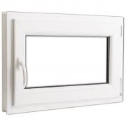 vidaXL Fereastră oscilobatantă PVC 2 foi sticlă mâner stânga 800 x 600 mm