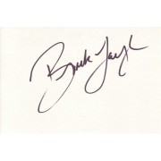 Brooke Langton Autographed Index Card