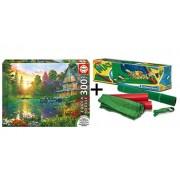 Pack Puzzle Educa 16746. Puesta de Sol. 300 piezas XXL + Tapete universal Puzzle Roll Clementoni 30297