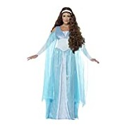 Smiffy's Adult Women's Medieval Maiden Deluxe Costume, Dress and Headpiece, Tales of Old England, Serious Fun, Size M, 27878