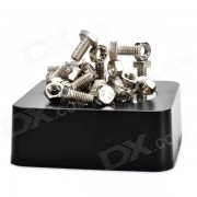 Creative Magnetic Stainless Steel Screws + Nuts Building Educational Toy Set - Black + Silver