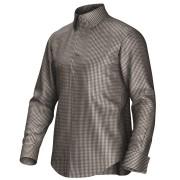 Maatoverhemd bruin/wit 53330