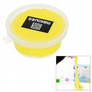 MAIKOU no toxico de Proteccion Ambiental de la Educacion de bricolaje suave arcilla plastilina Toy - amarillo oscuro