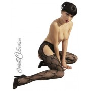 Cottelli Collection Stockings & Hosiery Strumpfhose ouvert schwarz S-L
