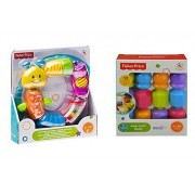 Fisher Price Snap-Lock Caterpillar and Beads Baby Toys Bundle 6-36 MOS