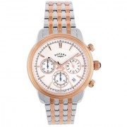 Rotary Round Dial Two Tone Chronograph For Men-Gb0287706