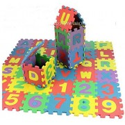 Mini Foam Alphabet Letters Numbers Play Mat Jigsaw Puzzle Kid Child Christmas Gift