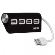 Hub USB HAMA, 4 porturi, negru