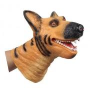 Childrens Home New Design VINYL Dogs Head Shape Hand Puppet Toys Simulation Animal Head Children Toys