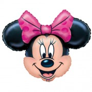 """Minnie Mouse Pink Bow 28"""" X 23"""" Foil Balloon Supershape"""