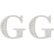Magideal 2Pcs Self Adhesive Letters Diamante Post Box Favour Embellishment Crafts G