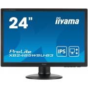 """Monitor IPS LED iiyama Prolite 24.1"""" XB2485WSU-B3, WUXGA (1920 x 1200), VGA, DVI, DisplayPort, 4 ms, Boxe, Pivot (Negru)"""