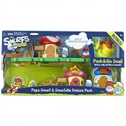The Smurfs Micro Village Papa Smurf & Smurfette Deluxe Pack