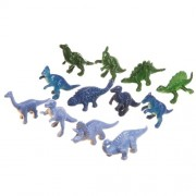 """Collectible 12 Piece Assorted Dinosaurs Toys 2 3"""" Miniature Size Dinosaur Figures Pack Of 12"""