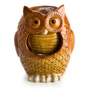 Ceramic Owl Water Fountain