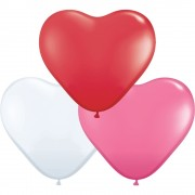 "Baloane latex in forma de inima, Love Assortment, 15"", Qualatex 24022"