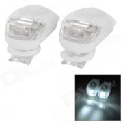 Tadpole Shape Outdoor Bicycle Bike White Light LED Warning Light - White (2 PCS / 2 x CR2302)