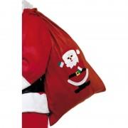 Rode kerstman cadeau zak fleece