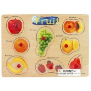 Puzzled Peg Puzzle Large - Fruit Wooden Toys by Puzzled Inc