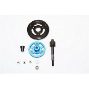 Axial SMT10 Grave Digger (AX90055) & MAX-D (AX90057) Upgrade Parts Aluminium Spur Gear Adapter+Steel Gear 56T - 1 Set Blue