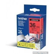 BROTHER TZ Tape, 36mm Black on Red, Laminated, 8m lenght, for P-Touch (TZE461)