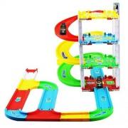 Happy Cherry Kids City Series Parking Garage 3 Level Car Park Sliding Road