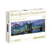 Clementoni - Puzzle de 1000 piezas, High Quality Panorama, diseño New York: Brooklyn bridge (392094)