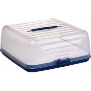 Emsa Superline Partybutler Plus - Recipiente para transportar o conservar alimentos (incluye acumulador de frío), color azul y blanco