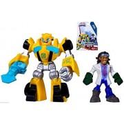 Playskool Heroes Transformers Rescue Bots Bumblebee And Doc Greene Figures Nip