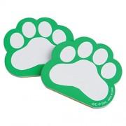 Dozen Green Paw Print Themed Mini Notebook Memo Pads