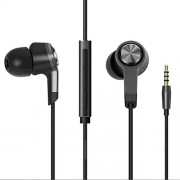 YGS Piston 3.0 Design 3.5 mm Earphone,Handsfree,Headphone with Remote & Mic For Xiaomi Mi Max -Black with Extra 3 Pairs of Earbud