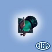 Közlekedési jelzőlámpa 1S1TL LED zöld, polikarbonát test, ellenző nélkül d=300mm IP56 Elba