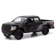Black Jada Just Trucks 5-inch 2011 Ford F-150 SVT Raptor Pickup 1/32 Scale Truck with Pullback Action by Jada Toys