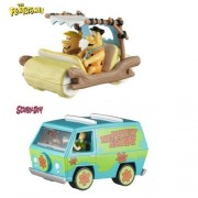Set of 2 Hot Wheels Elite One: THE FLINTMOBILE and SCOOBY-DOO! THE MYSTERY MACHINE 1:50 Scale by ELITE-ONE
