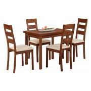 Jedálenský stôl + 4 stoličky BT-4723 TR3 + BC-2603 TR3