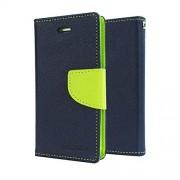 Epayista Mercury Goospery Fancy Diary Card Wallet Flip Case Back Cover for Samsung Galaxy S Duos S7562/ GT- S7562/ S7582 (Blue & Green)