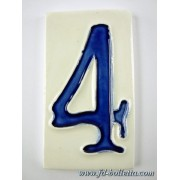 Numero civico ceramica piccolo nc304