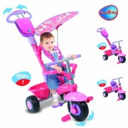 SmarTrike DX Deluxe 3-In-1 Pink Handle DLX Bike Trike Smart Trike Tricycle
