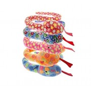 Multi Pet Multipet Slitherbee Snakes Rose Extra Long Plush Squeaker Interactive Dog Toy