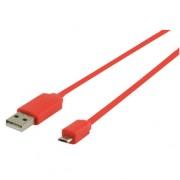 Micro USB kabel plat (rood 1m) voor o.a. smartphones