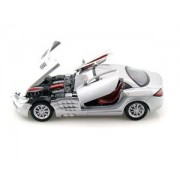 MotorMax scala 1:24 Mercedes-Benz SLR McLaren metallico Die-Cast Model Car (Grigio Scuro)