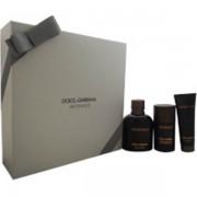 Dolce&Gabbana Pour Homme Intenso Комплект (EDP 125ml + Deo Stick 75ml +SG 50ml) за Мъже