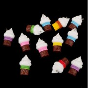 Magideal 12pc/set Plastic Ice-cream Cone Simulation Decoration Kids Toys