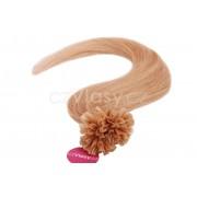 Asijské vlasy na metodu keratin odstín 27 Délka: 46 cm, Hmotnost: 0,5 g/pramínek, REMY kvalita
