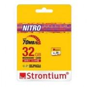 Strontium MicroSDHC 32GB Nitro 466X UHS1 Card SRN32GTFU1R multicolor