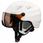 Alpina - Grap Visor HM - Skihelm Gr 54-57 weiß/schwarz/grau