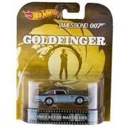 1963 Aston Martin DB5 James Bond 007 GoldFinger Hot Wheels 2015 Retro Series 1/64 Die Cast Vehicle